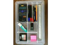 Durable plastic organiser tray office stationary