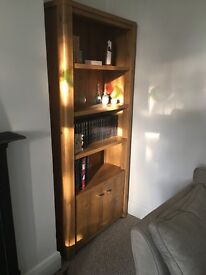 Tall shelves with cupboard