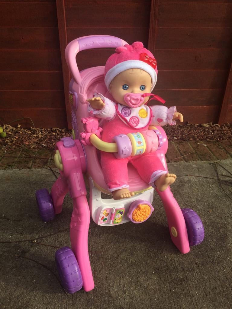 Vetch Little Love Baby Talk Doll & Pushchair