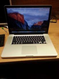Apple Macbook Pro,15-inch intel Core i5,8gb Ram,256gb SSD HDD,Mac office 2011.Ready to use