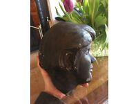 Antique clay bust - heavy - Edwardian?