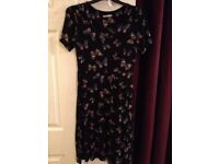 Beautiful Black Dress with Butterfly Print - Size 10 - EXCELLENT CONDITION - £15 ono