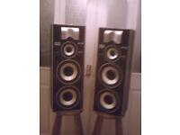 Large Studio Power MC700 Speaker's, 74l x 30w cm, Good Condition.