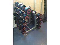12kg - 30kg Dumbbell Set and Rack