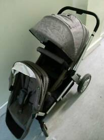 Mothercare genie double/single pram