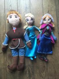 Frozen dolls/soft toys.