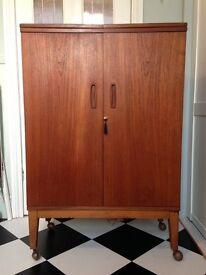 Mid-century modern / vintage teak cocktail cabinet