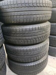 4 Michelin latitude x ice 235/70r16 winter tires