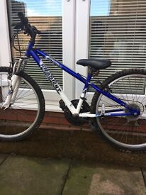Boys bike good condion with fitted lights on wheel lighting up mph what cost £20 a bargin price £30
