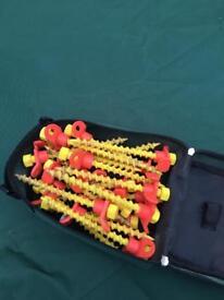 Caravan plastic thread pegs