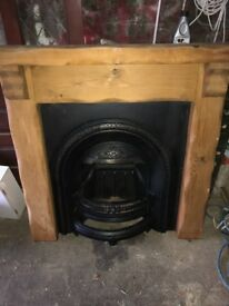 Cast Iron Fireplace with solid wood surround (Fire Place)
