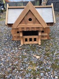 Wooden bird house beautiful