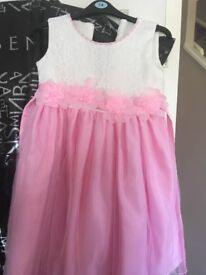 Pink & ivory dress