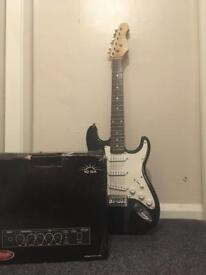 Crazed guitar and amplifier