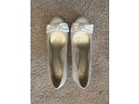 2 pairs of ivory shoes - ideal bridal or bridesmaids