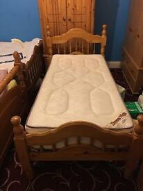 Solid wood pine single bed frame for sale!