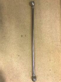 Brushed knickle curtain pole