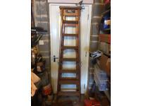 Sturdy wooden step ladder