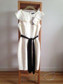 Beautiful Warehouse Linen Frill Detail Dress.