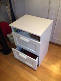 Small White Kitchen Drawers. Excellent condition IKEA furniture.