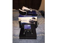 (Can sell seperatly) Sony PlayStation VR with warranty+ two Move Motion Controller+ camera+ ps4 500g