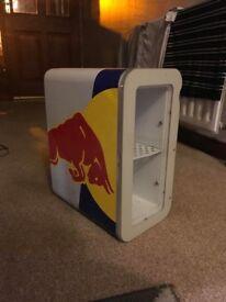 Red bull fridge refrigerator small for bedroom or gamesroom