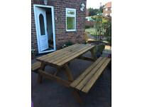 Heavy duty garden summer bench