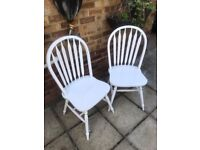 2 Solid Wood Dinning Chairs