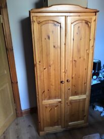 Wooden wardrobe barely used PICK UP ONLY