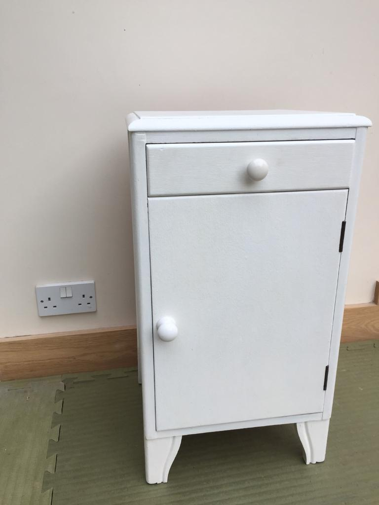 White Simple Wooden Shabby Chic Bedside Table In Brighton East Sussex Gumtree