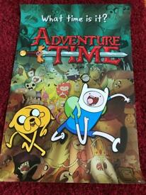 Adventure Time Encyclopaedia and poster