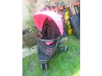 My Child Orbital 3 Pushchair-Black/pink