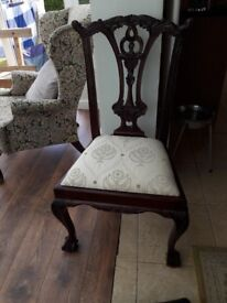 Beautiful carved wooden chair