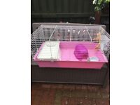 Week old large rabbit/guinae pig cage comes with all accessories ammaculate condition