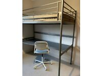 Bunk Bed with Desk c/w Mattress