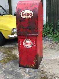 1950's vintage oil pump. Works. 142cm h, 62cm d, 46cm w