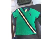Men's BNWT Ralph Lauren big pony classic fit green polo top size M. £30