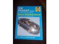 Haynes Workshop Manual for VW PASSAT 05 to 60 reg.