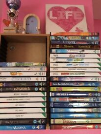 Kids wii games and DVD's
