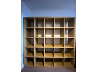 Ikea Kallax Shelving Unit - Oak Effect - 182x182 cm