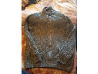 Mens next sweater zipper