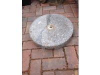 Heavy granite umbrella stand for the garden