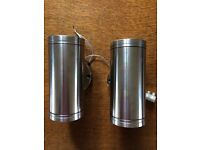 Wall lights - up-down wall lights for external or internal use. Low voltage. Hunza