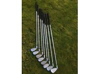 8 Ryder z-40 Golf Clubs - 3, 4, 6, 7, 8, 9, pitch and sand wedge.