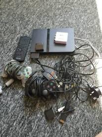 PS2 Slim - 2 Controllers + Memory Card
