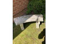 Ornamental Concrete/Stone Garden Bench