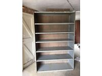 Dexion Shelving Unit With Plywood backing