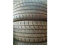 FREE FITTING 2 X 225 45 17 TYRES 7MM MATCHING PAIR