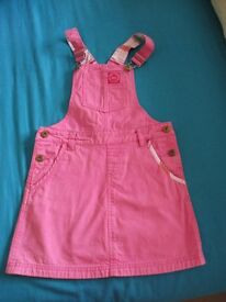 Joules Pink Dungaree Dress - (Age 8-9)