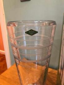 """Carlisle crystal vase 14"""" height"""